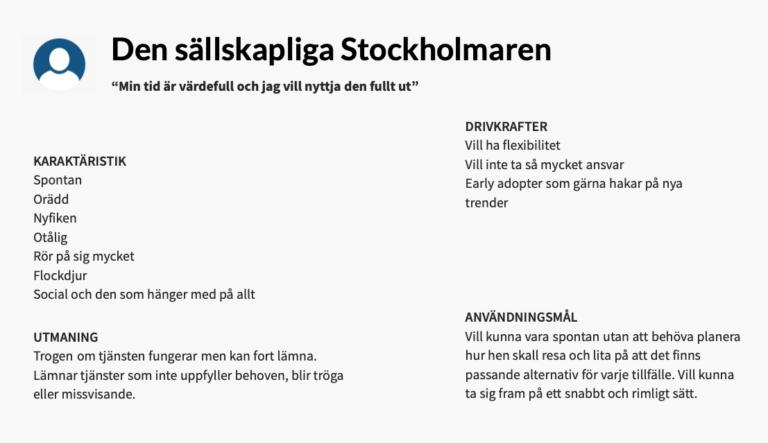 Beteendetyp Stockholmaren